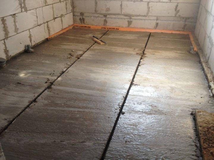заливка бетонного пола в доме