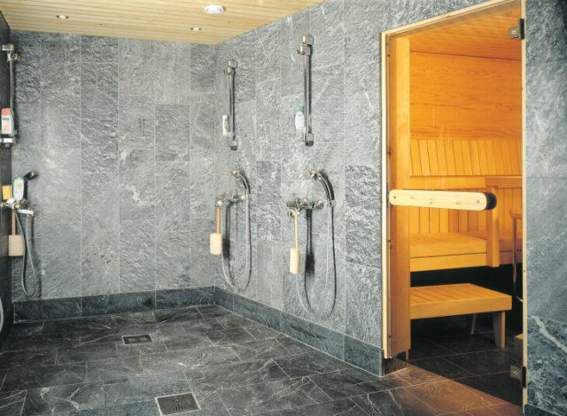 Нужна ли плитка в бане на стене характеристики и особенности выбора