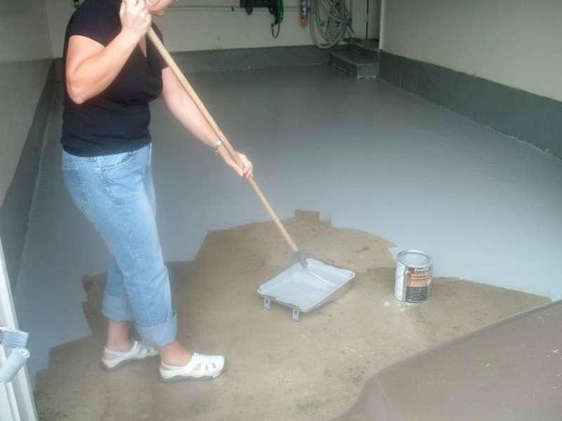 краска для покраски бетонного пола в гараже