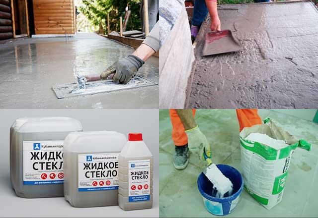 жидкое стекло для бетона стяжки