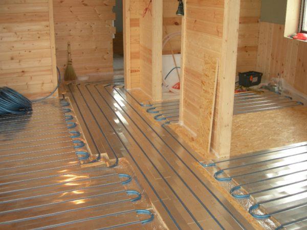 электрические теплые полы на деревянный пол в частном доме как